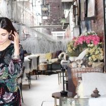 Velvet dress from Zara